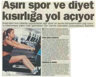 Aşırı Spor ve Diyet Kısırlık Nedeni