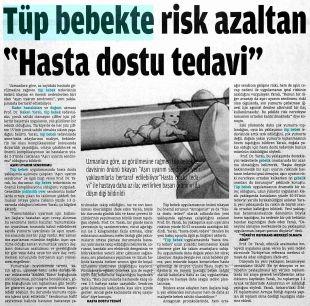 TÜP BEBEKTE RİSK AZALTAN 'HASTA DOSTU TEDAVİ'