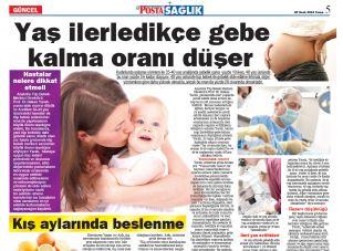 Yaş ilerledikçe gebe kalma oranı düşer