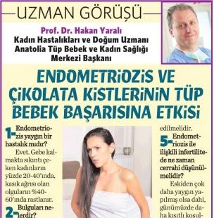 Endometriozis-çikolata kistleri: Gizemli hastalık