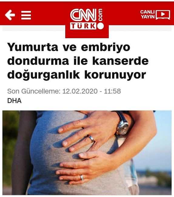 Yumurta ve Embriyo Dondurma ile Kanserde Doğurganlık Korunuyor