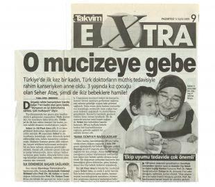 Türkiye'de bir ilk. Rahim kanserine rağmen anne oldu